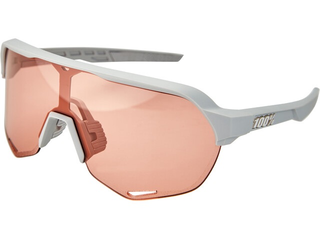 100% S2 Lunettes, soft tact stone grey/hiper mirror